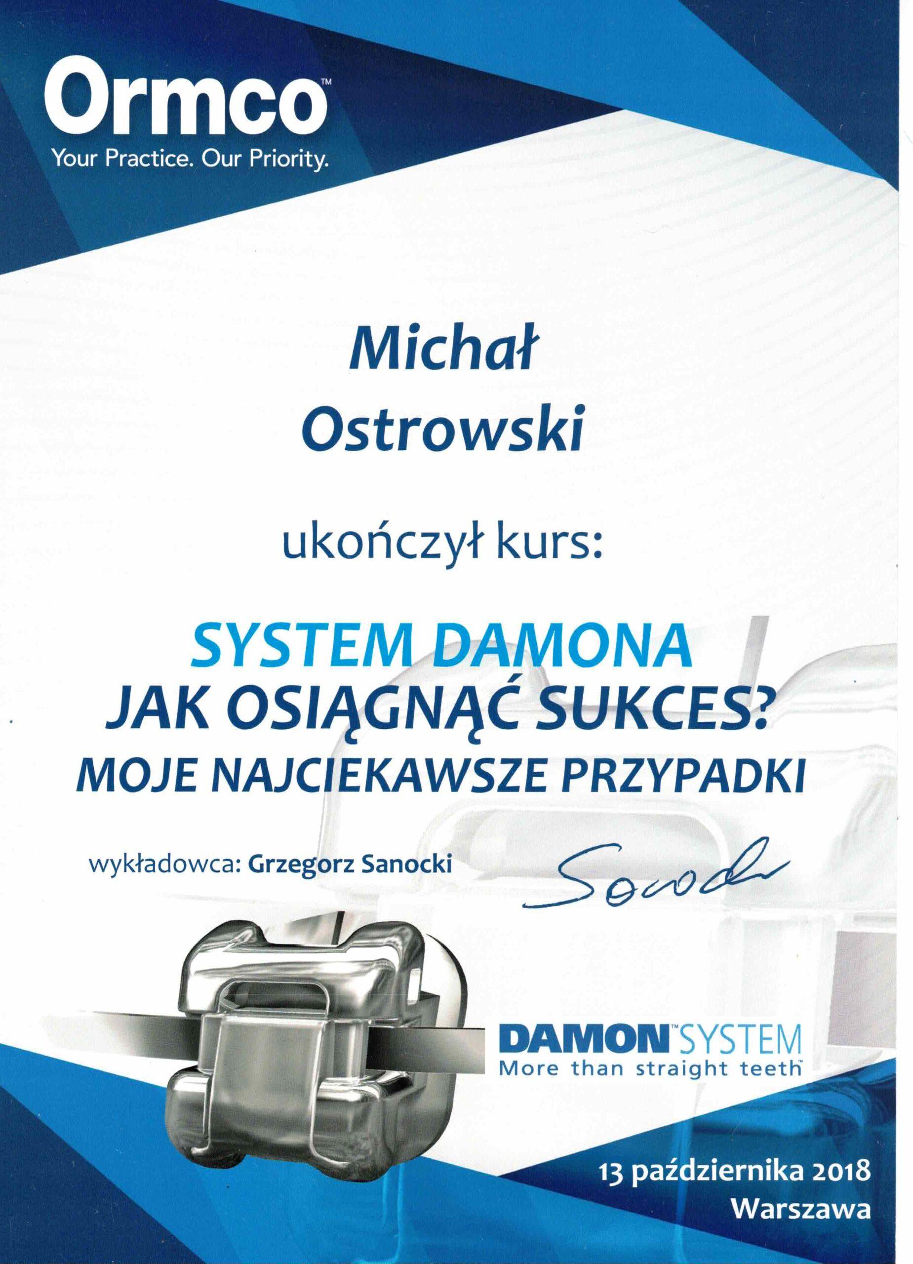 aparat ortodontyczny Damon kwalifikacje gabinet stomatologiczny łódź