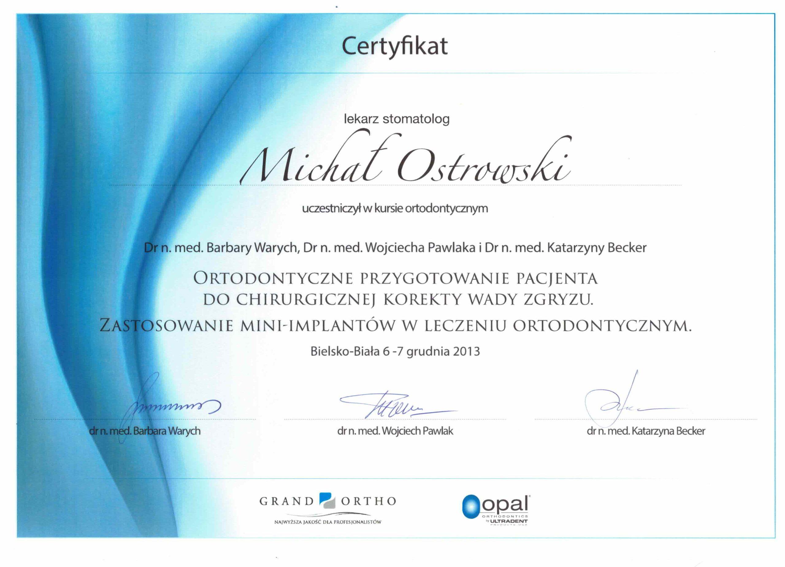 mini implanty kwalifikacje stomatolog meritum